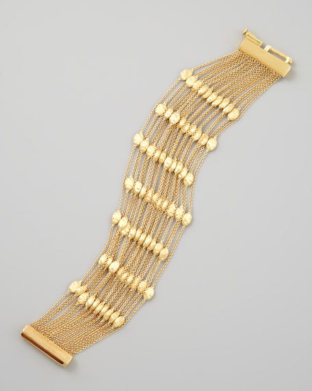 Siviglia 18k Gold 20-Strand Small-Bead Bracelet