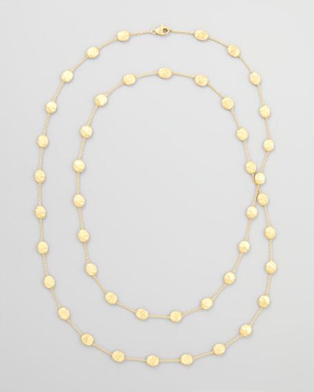 "Siviglia 18k Gold Long Station Necklace, 36""L"
