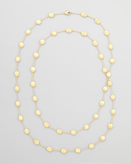 "Marco Bicego Siviglia 18k Long Station Necklace, 47""L"