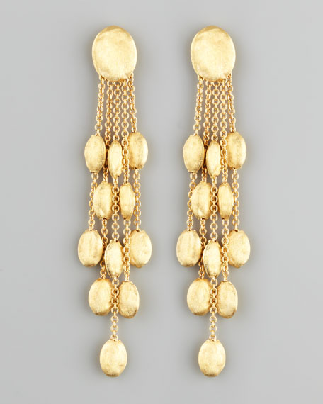 Siviglia 18k Gold 5-Strand Drop Earrings