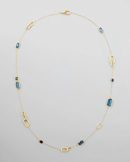 Marco Bicego Murano Multi-Stone Link By-the-Yard Necklace