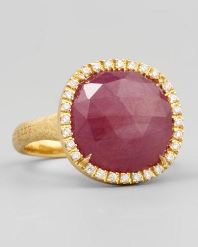 Siviglia 18k Pink Sapphire Ring, Medium