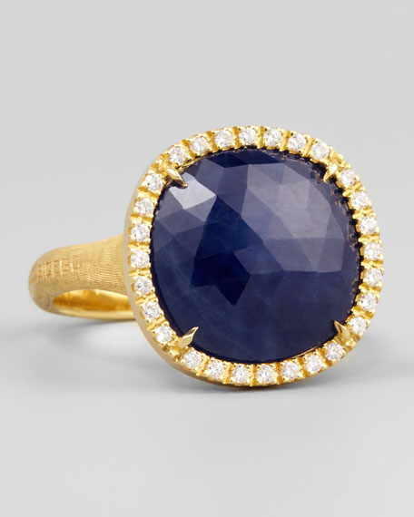 Siviglia 18k Blue Sapphire Ring, Medium