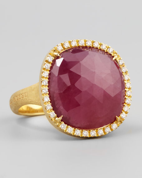 Siviglia 18k Pink Sapphire Ring, Large