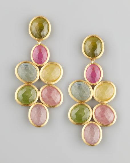 Siviglia 18k Small Sapphire Chandelier Earrings