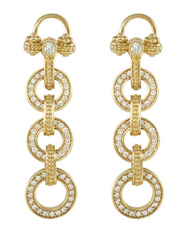 Lagos 18k Gold Diamond Linked-Drop Earrings
