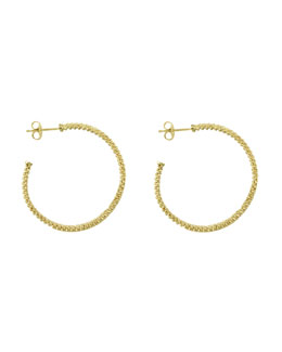 Lagos 18k Gold Caviar Beaded Hoop Earrings, 35mm