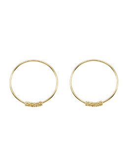 Lagos 18k Caviar-Closure Hoop Earrings, 20mm