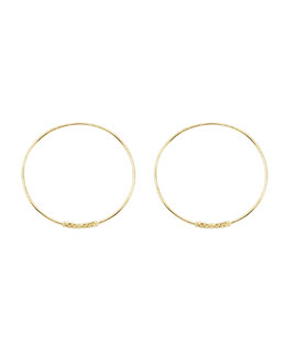 Lagos 18k Caviar-Closure Hoop Earrings, 30mm