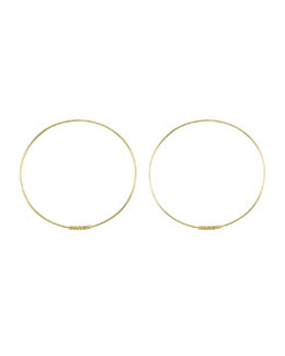 Lagos 18k Caviar-Closure Hoop Earrings, 50mm