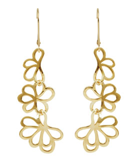 Lagos 18k Gold Petal Drop Earrings