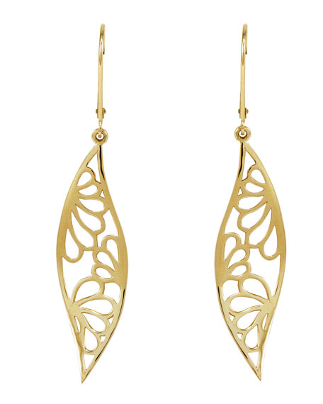 18k Gold Marquise Drop Earrings