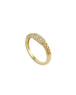 Lagos 18k Pave Diamond Caviar Ring