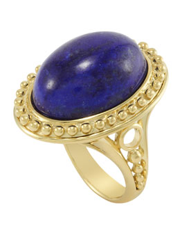 Lagos 18k Oval Lapis Ring