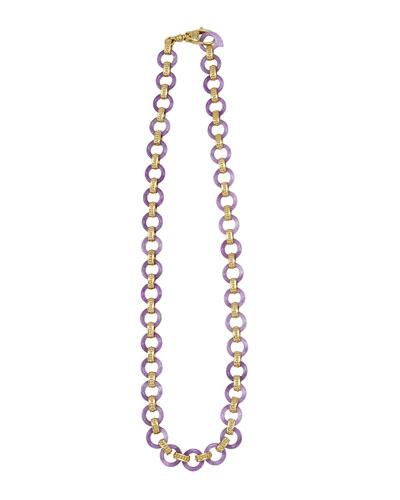 Lagos 18k Lavender Jade Link Necklace