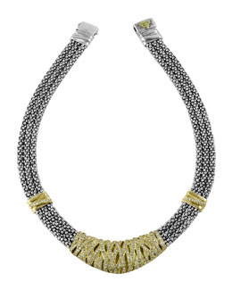 Lagos Embrace Caviar Diamond Necklace
