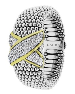 Lagos X Collection Diamond Bracelet, 23mm