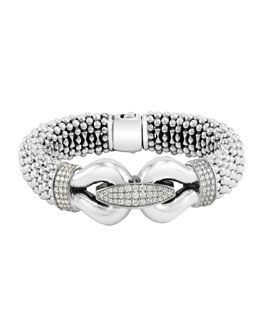 Lagos Derby Pave Diamond Bracelet, 18mm