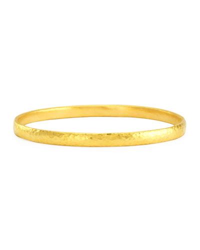 Skittle 24k Gold Bangle Bracelet