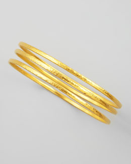 Gurhan Constellation 24k Gold Bangles, Set of 3
