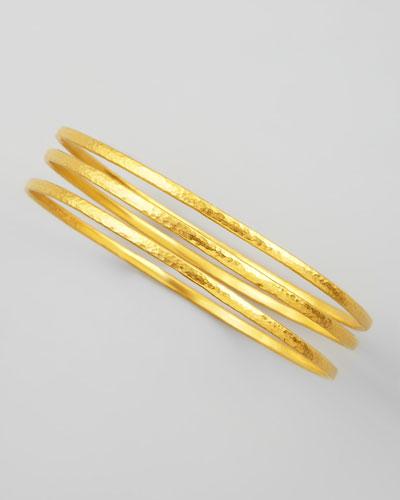 Gurhan Constellation 24k Gold Bangles, Set of 3