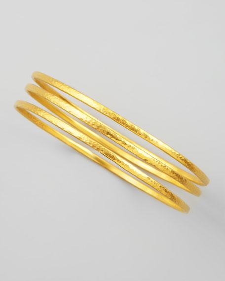 Constellation 24k Gold Bangles, Set of 3