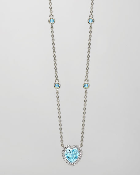 Kiki McDonough Grace 18k White Gold Blue Topaz
