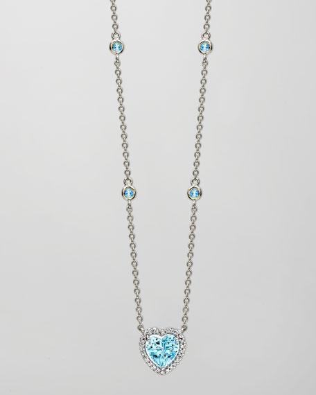 Kiki McDonough Grace 18k White Gold Blue Topaz