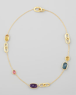 Marco Bicego Murano Mix-Stone & Link Station Necklace, 18""