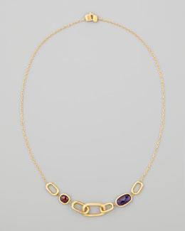 "Marco Bicego Murano 18k Amethyst & Rhodolite Garnet Necklace, 18""L"
