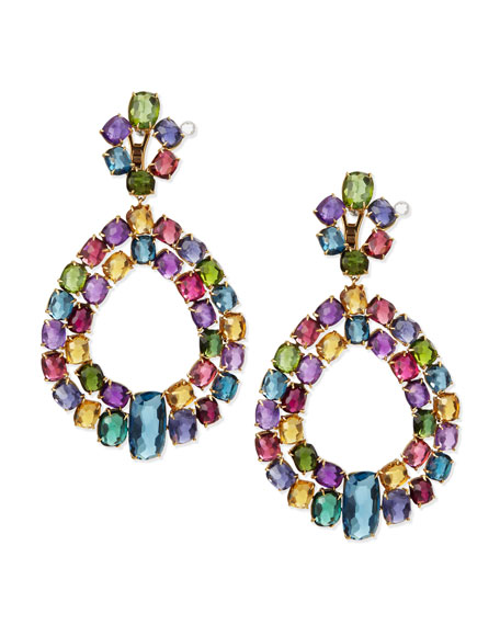 Marco Bicego Murano 18k Multi-Stone Chandelier Earrings