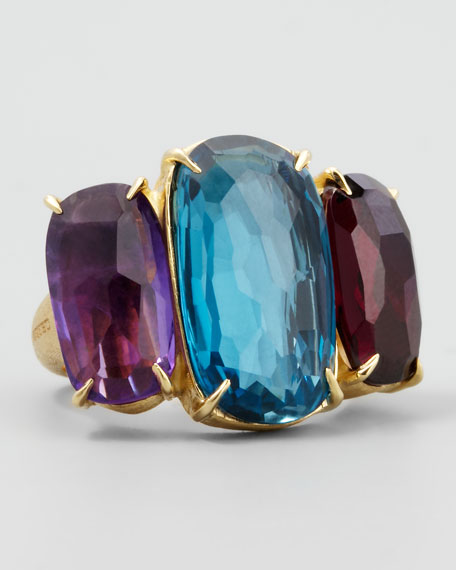 Marco Bicego Murano 18k Large Three-Stone Ring