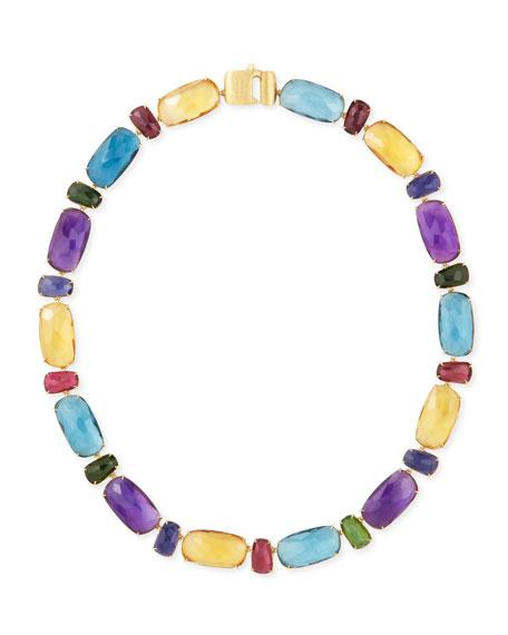"""Murano 18k Multi-Stone Necklace, 18""""L"""