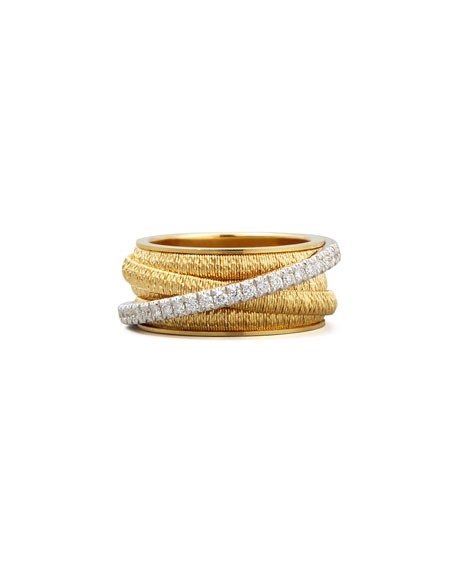 Marco Bicego Diamond Cairo 18k Five-Strand Ring with