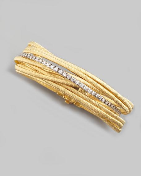 Diamond Cairo 18k Nine-Strand Bracelet