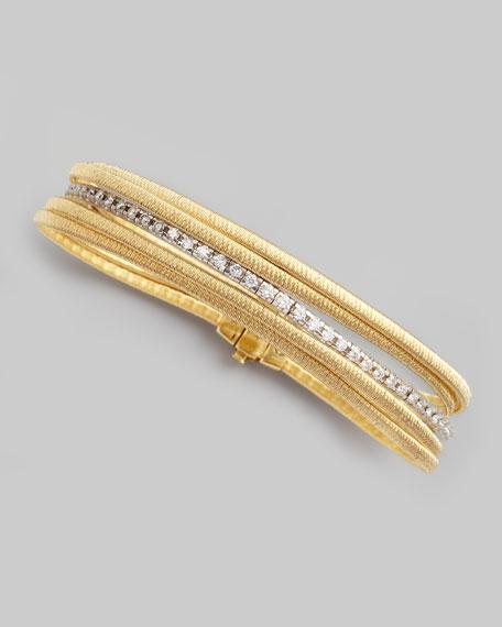 Diamond Cairo 18k Five-Strand Bracelet