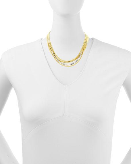Diamond Cairo 18k Five-Strand Necklace