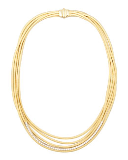 Marco Bicego Diamond Cairo 18k Five-Strand Necklace