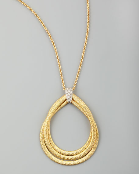 Diamond Cairo 18k Serpentine-Pendant Necklace