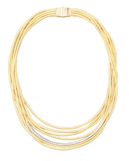 Marco Bicego Diamond Cairo 18k Nine-Strand Necklace