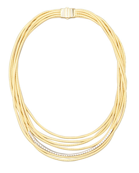 Diamond Cairo 18k Seven-Strand Necklace
