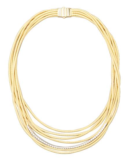 Diamond Cairo 18k Seven-Strand Necklace