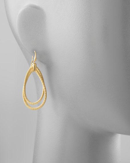 Cairo 18k Medium Gold Tiered Hoop Earrings