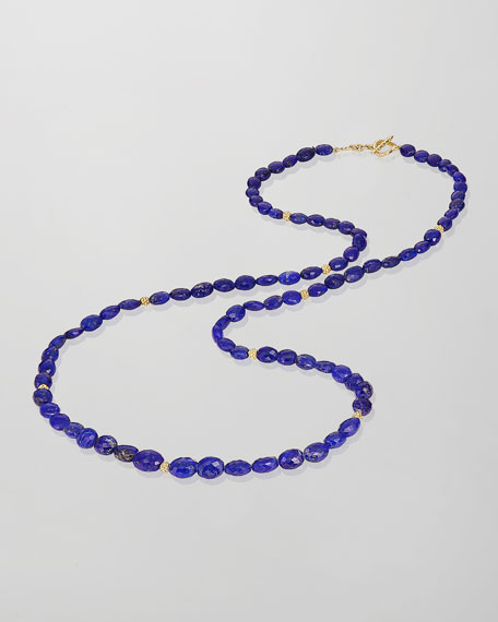 Chelsea Lapis Beaded Necklace, 32""