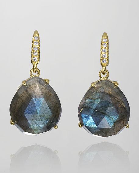 Joyce Labradorite & Diamond Drop Earrings