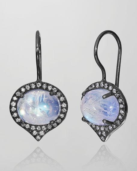 Jordan Moonstone & Diamond Drop Earrings