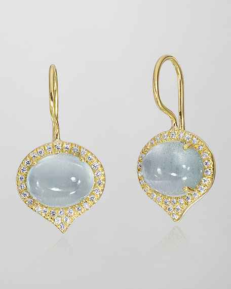 Jordan Aquamarine & Diamond Earrings
