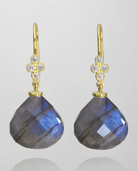 Shanti Labradorite Briolette & Diamond Earrings
