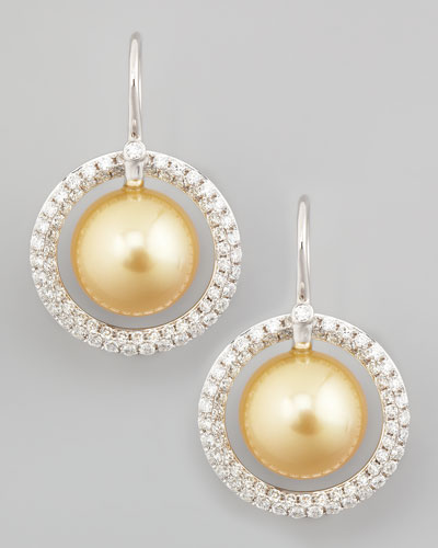 Eli Jewels Golden South Sea Pearl & Diamond