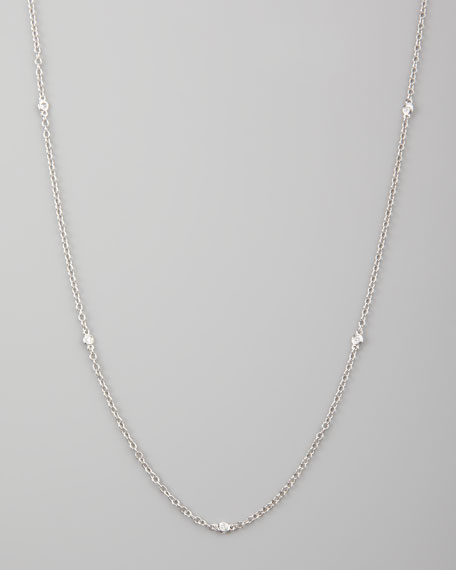 K Yellow Gold Diamonds By The Yard Necklace